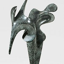 Duo, sculpture contemporaine de Marion Bürkle, bronze patiné 37 cm
