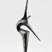 Envol, sculpture contemporaine de Marion Bürkle, bronze patiné 79 cm