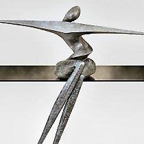 Océane, sculpture contemporaine de Marion Bürkle, bronze patiné 74 cm