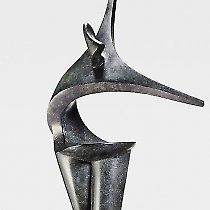 Salomé, sculpture contemporaine de Marion Bürkle, bronze patiné 70 cm