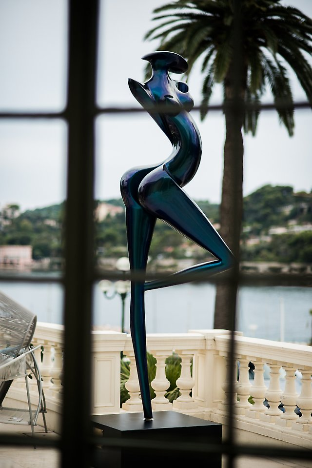 La Danseuse, sculpture exposée à Art'Night, La rotonde de Beaulieu-sur-mer